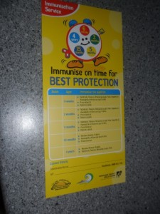 Immunise on thime pamphlet