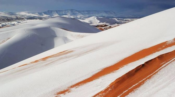 Cold Snap Brings Snowfall to the Sahara Desert – for the second winter in a row